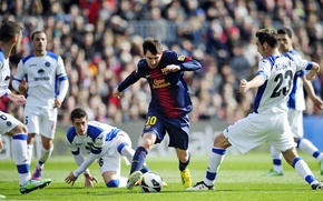 Picture Football, Barcelona, ball, Messi
