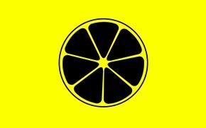 Wallpaper lemon, slice, citrus, fruit