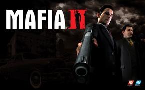 Picture machine, gun, Mafia 2, Mafia 2, Vito Scaletta, Vito Scaletta
