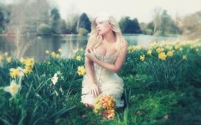 Picture flowers, neckline, Faerie, Lorena F