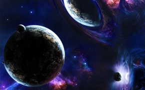Wallpaper Planets, Stars, Space, Stars, Blue, Earth, Planet, Other Worlds, Mirror, Mirror Worlds, Other Worlds, Mirrirs