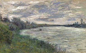 Picture landscape, picture, Claude Monet, The Seine near Vétheuil. Stormy Weather