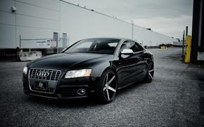 Picture machine, Audi, black, before