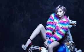 Picture look, girl, music, Asian, legs, body, South Korea, K-Pop, Ailee