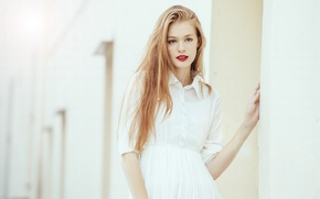 Picture Girl, Model, Urban, White, Street, Shoot, Woman, View, Blouse, Kathia