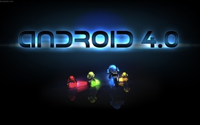 Picture green, red, Android, yellow, blue, Android 4.0