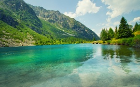 Picture Nature, Clouds, Mountains, Lake, Summer, Landscape