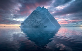 Picture sea, nature, ice, iceberg, North