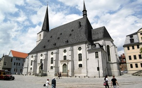 Picture the sky, home, Germany, Weimar, the Church of saints Peter and Paul