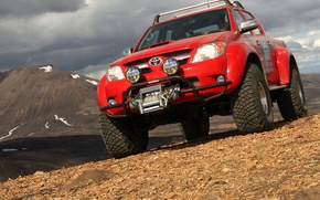 Picture mountains, Toyota, 2010, Hilux