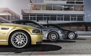 Picture BMW, BMW, gold, black, start, grey, E46