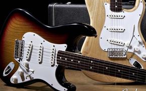 Wallpaper guitar, Stratocaster, fender