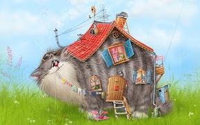 Picture house, figure, Koshak, Alex Dolotov, mouse