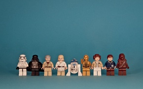 Wallpaper star wars, star wars, lego, characters