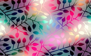 Wallpaper leaves, background, colorful, abstract, background, leaves, shining