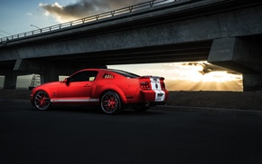 Picture Mustang, Ford, Shelby, GT500, Muscle, Light, Red, Car, Sunset, Collection, Aristo, Rear