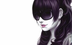 Picture hair, Girl, glasses, earring, panache, sakkan