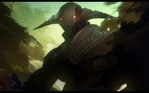 Picture art, helmet, knight, Dota 2, Sven, Rogue Knight, VictorBang