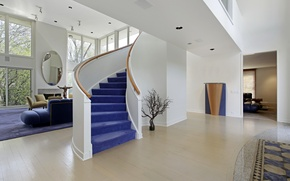 Picture design, interior, mirror, ladder