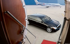 Picture car, machine, Maybach, plane, car and plane