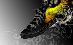 Wallpaper style, figure, sneakers, fiction, Wallpaper