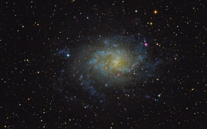 Picture spiral galaxy, M 33, Triangle, NGC 598
