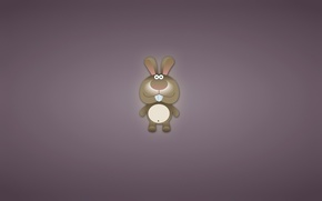 Wallpaper minimalism, animal, hare, toothy, rabbit, eared, rabbit