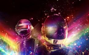 Wallpaper electronic, style, music, Daft Punk, retro
