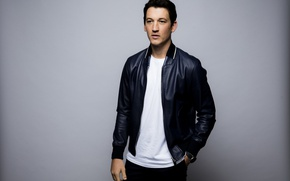 Picture background, jacket, t-shirt, actor, photoshoot, Miles Teller, Miles Teller, LA Times, Jay L Clendenin