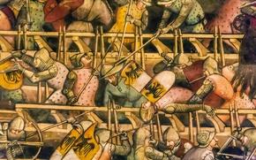 Picture wall, war, battle