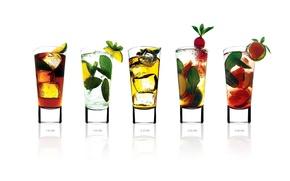 Wallpaper Cocktails, drinks, glasses, ice