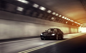 Picture speed, BMW, the tunnel, black, front, 35i, sDrive, E89