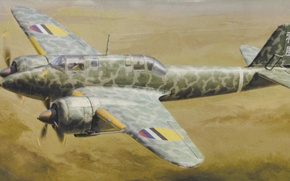 Picture war, painting, aviation, ww2, japanese heavy fighter, Kawasaki Ki 45 Kai Hei tor rom (Nick) …