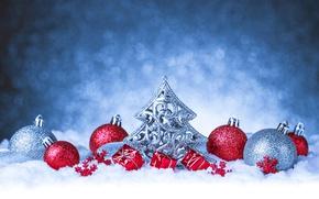 Wallpaper balls, snow, background, balls, Christmas, New year, tinsel, herringbone, herringbone