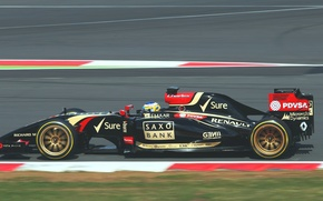 Picture Formula 1, Lotus F1 team, E22, 18 inch, Charles Pic