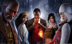 Picture the city, building, heroes, company, The Secret World, game wallpapers
