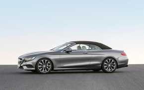 Picture Mercedes-Benz, Mercedes, Profile, Cabriolet, S500, The top