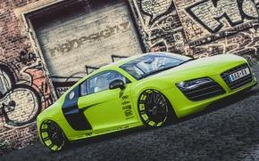 Picture Audi, green, V10, XXX Performance, r8
