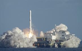 Wallpaper Ukraine, Sea launch, Zenit-3SL, Launch platform, Booster, ODYSSEY