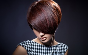 Picture girl, face, style, background, haircut, dress, hair. lips