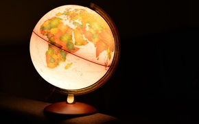 Picture background, lamp, globe