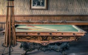 Picture vintage, billiards, old, pool