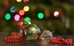 Picture lights, toy, tree, ball, decoration