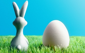 Wallpaper egg, grass, the Easter Bunny