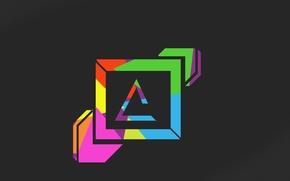 Picture rainbow, cool, best, minimalizm, zero