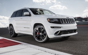 Picture machine, white, track, jeep, white, SRT, Jeep, Grand Cherokee