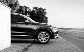Picture road, photo, black and white, Volvo, Volvo, XC90