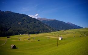 Picture nature, town, farm