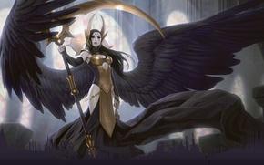 Wallpaper Magic The Gathering, Angel, MTG, Deathpact