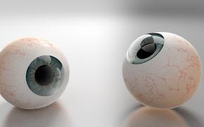 Picture eyes, rendering, balls, pupils